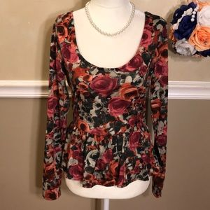 Lily Rose floral peplum top